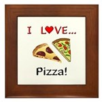 I Love Pizza Framed Tile