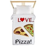 I Love Pizza Twin Duvet