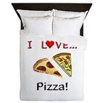 I Love Pizza Queen Duvet