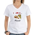 I Love Pizza Women's V-Neck T-Shirt