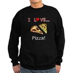 I Love Pizza Sweatshirt (dark)
