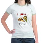 I Love Pizza Jr. Ringer T-Shirt