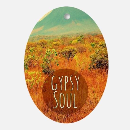Gypsy Soul  Oval Ornament