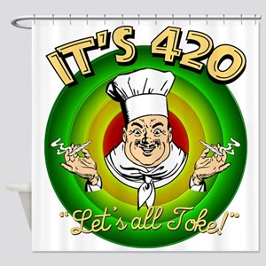 It's 420 Let's all Toke! Shower Curtain