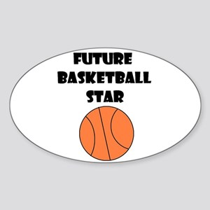 FUTURE BASKETBALL STAR Oval Sticker