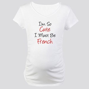So Cute French Maternity T-Shirt