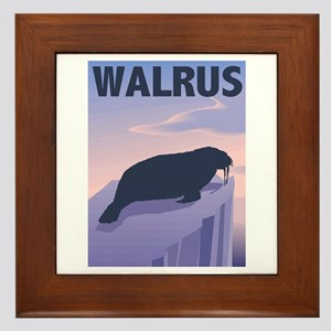 Graphic Walrus Framed Tile