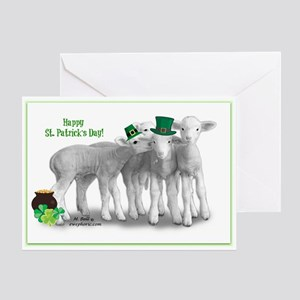 St. Patricks Day Lambs Greeting Cards