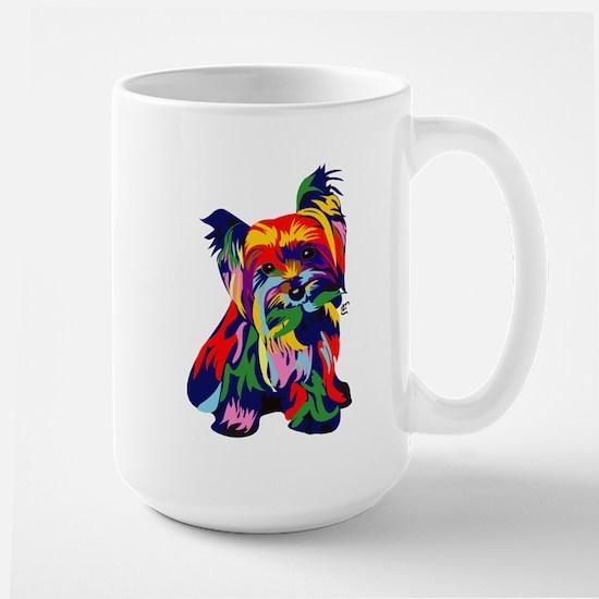 Bright Rainbow Yorkie Mugs