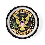 Minuteman Civil Defense Wall Clock