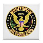 Minuteman Civil Defense Tile Coaster