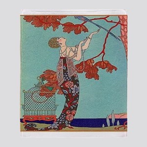 L'oiseau Volage Throw Blanket