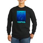 Tropical Fish Long Sleeve Dark T-Shirt