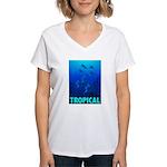 Tropical Fish Women's V-Neck T-Shirt