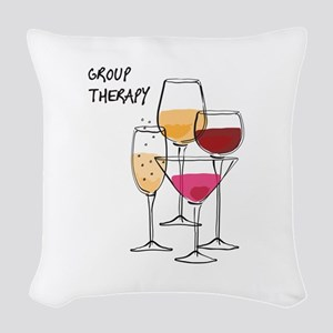 Group Therapy Woven Throw Pillow