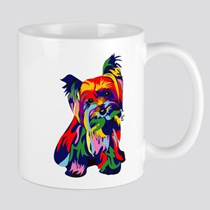 Bright Rainbow Yorkie Mug