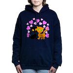Kitty Cat Love Women's Hooded Sweatshirt