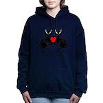 Black Cat Love Women's Hooded Sweatshirt