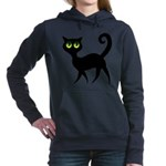 Cat With Green Eyes Hooded Sweatshirt