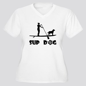 SUP Dog Standing Plus Size T-Shirt