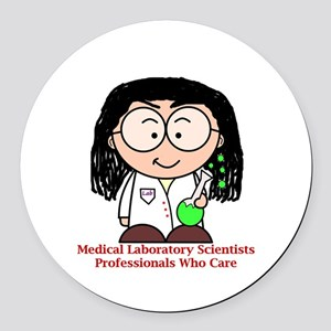 Medical Laboratory Professionals Round Car Magnet