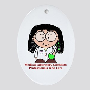 Medical Laboratory Professionals Ornament (Oval)