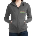 Tulip Garden and Butterflies Zip Hoodie