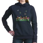 Tulip Garden and Butterflies Hooded Sweatshirt