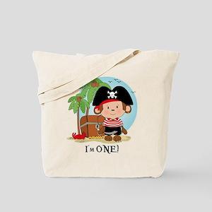 Monkey Pirate 1st Birthday Tote Bag