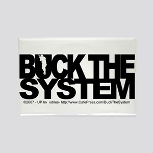 Buck The System Rectangle Magnet