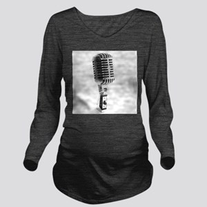 vintage_mic Long Sleeve Maternity T-Shirt