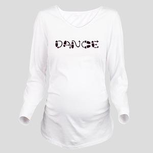 danceblack Long Sleeve Maternity T-Shirt