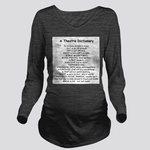 theatrepoemwhite Long Sleeve Maternity T-Shirt