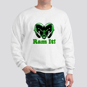 Ram It Green Ram Head Sweatshirt