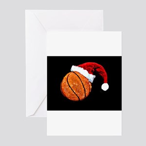 Basketball Santa Greeting Cards