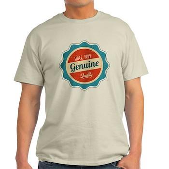 Retro Genuine Quality Since 1992 Light T-Shirt