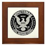 Minuteman Civil Defense Framed Tile