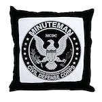 Minuteman Civil Defense Throw Pillow