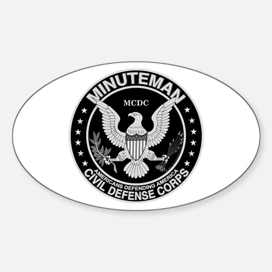 Minuteman Civil Defense Oval Decal