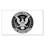 Minuteman Civil Defense Rectangle Sticker