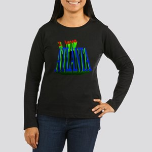 ATLANTA Women's Long Sleeve Dark T-Shirt