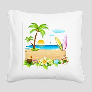 Tropical Surd Square Canvas Pillow