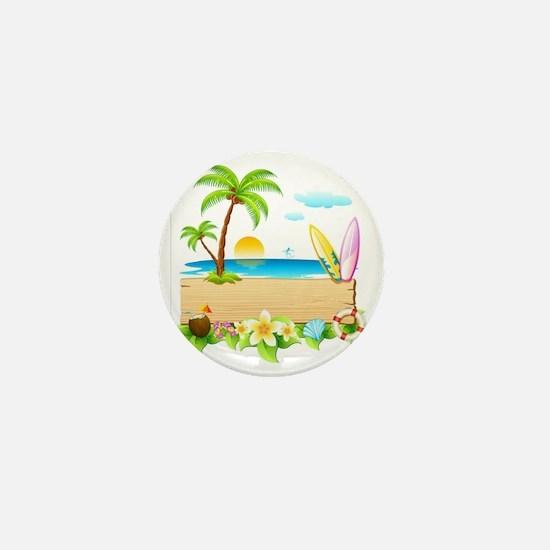 Tropical Surd Mini Button