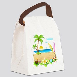 Tropical Surd Canvas Lunch Bag