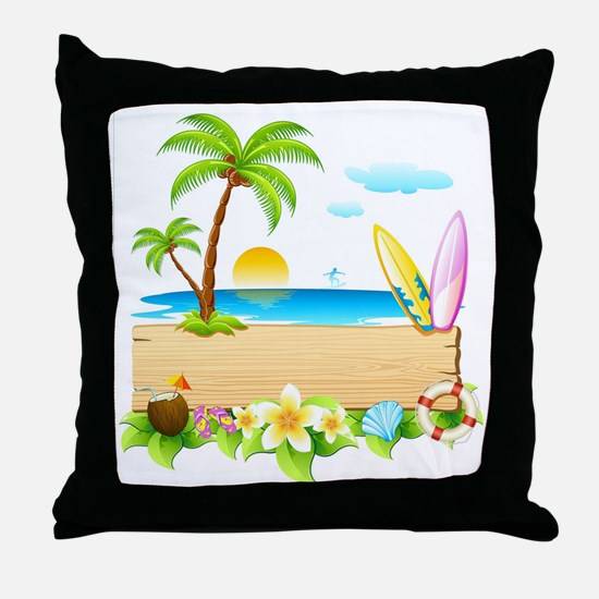 Tropical Surd Throw Pillow