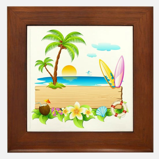 Tropical Surd Framed Tile