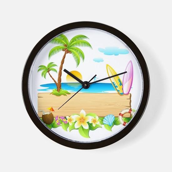 Tropical Surd Wall Clock