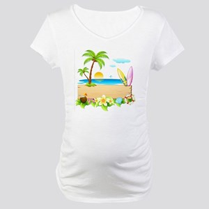 Tropical Surd Maternity T-Shirt