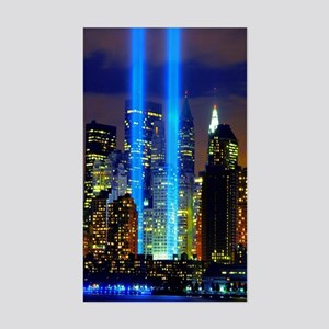 911 Twin Towers Sticker (Rectangle)