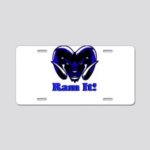 Blue Ram It Aluminum License Plate